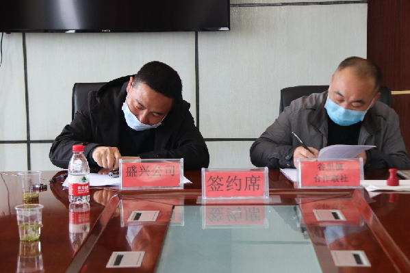 """黔西县谷里镇举行""""党建+产业""""猕猴桃项目签约仪式"""